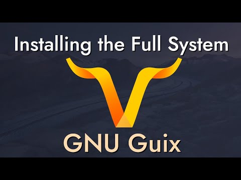 Installing Guix as a Complete GNU/Linux System