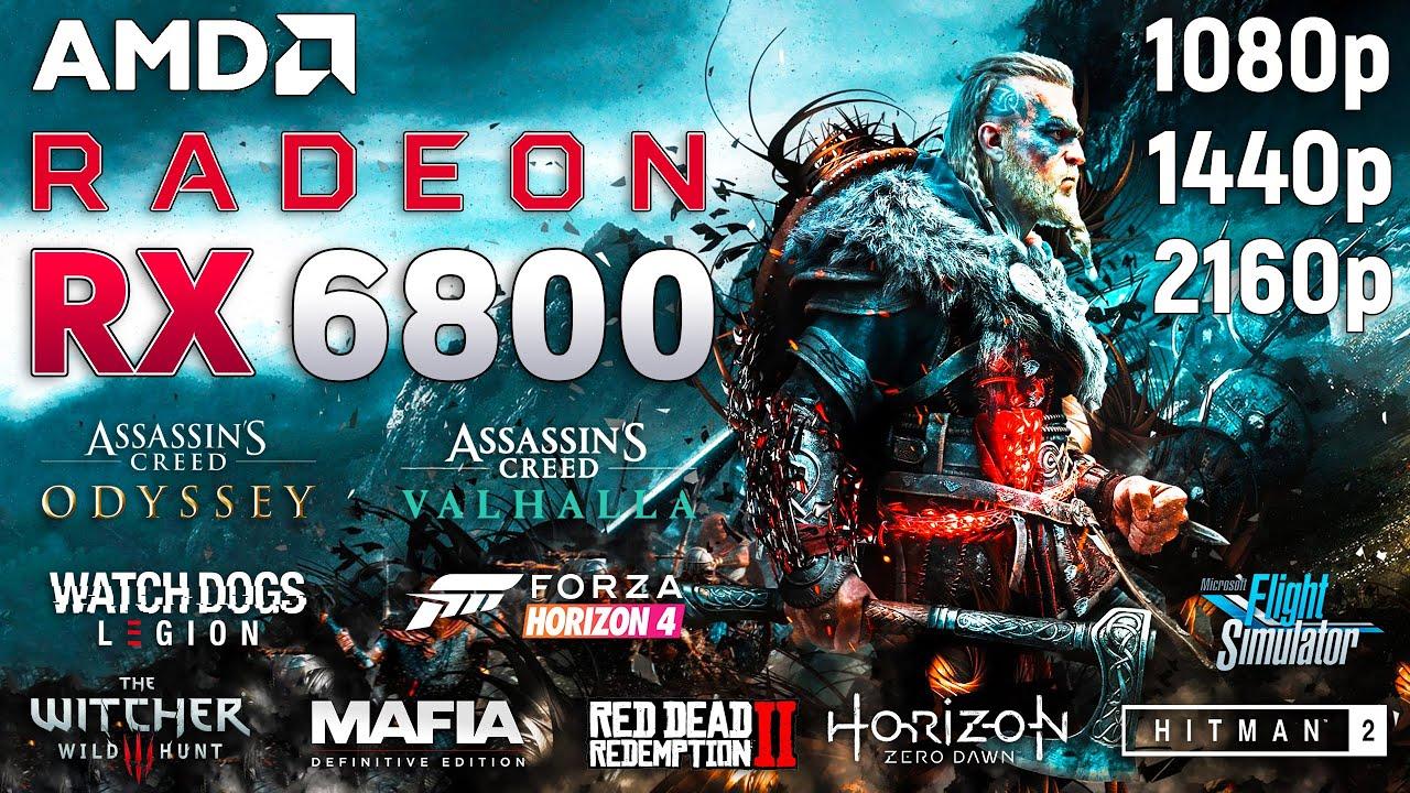 RADEON RX 6800 - Test in 10 Games l 1080p l 1440p l 2160p l