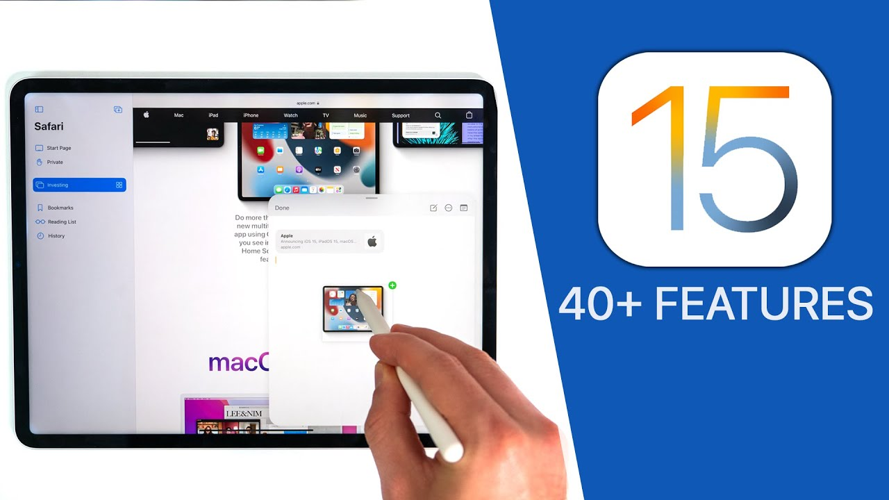 iPadOS 15 - 40+ New Features & Changes!