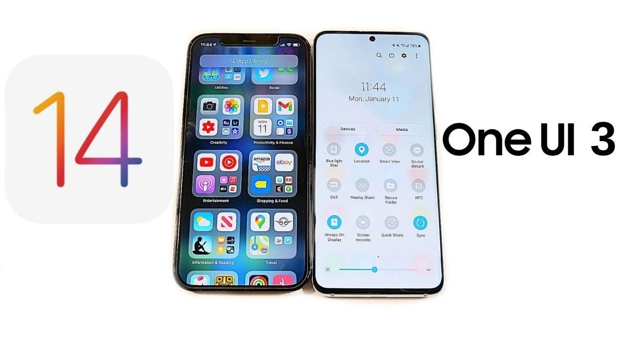 iOS 14 vs One UI 3.0!
