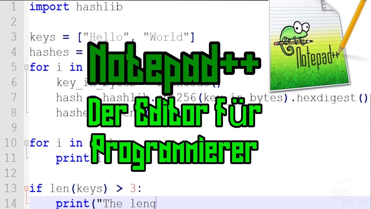 Notepad++ - Der Editor für Programmierer