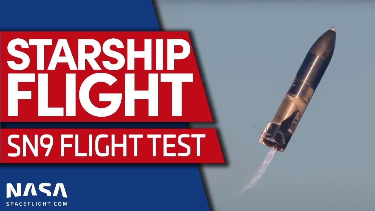 Starship SN9 Flight Test