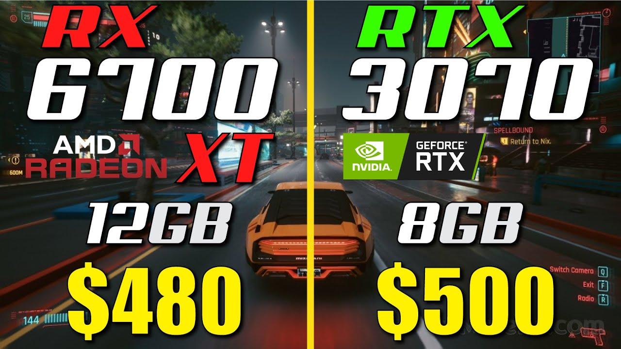 RX 6700 XT vs. RTX 3070 | Test in 8 Games